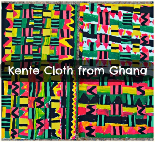 Ghanaian Kente Cloth Kids Art Project